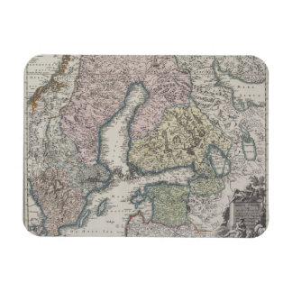 Scandinavian Antique Map Magnet