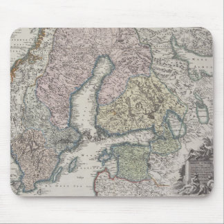 Scandinavian Antique Map Mouse Mat