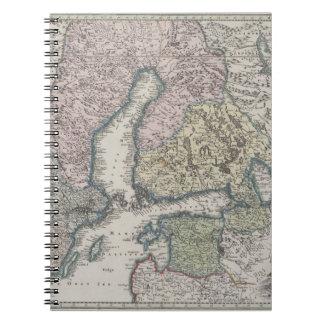 Scandinavian Antique Map Notebook