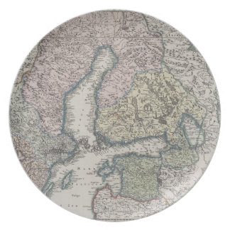 Scandinavian Antique Map Plate