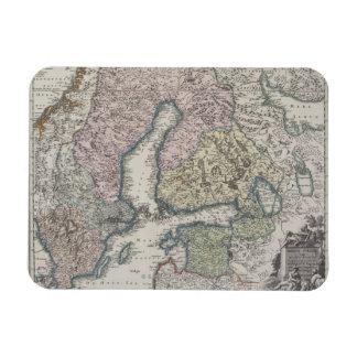 Scandinavian Antique Map Rectangle Magnets