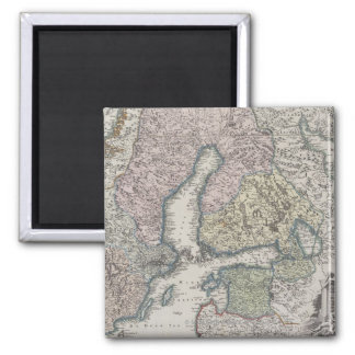 Scandinavian Antique Map Square Magnet
