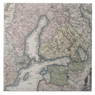 Scandinavian Antique Map Tile