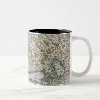 Scandinavian Antique Map Two-Tone Coffee Mug