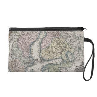 Scandinavian Antique Map Wristlet
