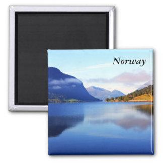 Scandinavian beauty, Norway Square Magnet