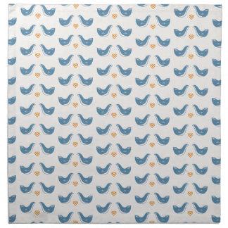 Scandinavian Birds in the Garden Theme Cloth Napkin