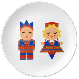 Scandinavian Children Illustration Porcelain Plate