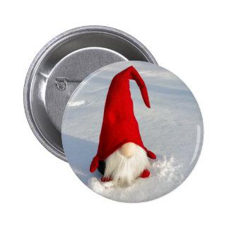 Scandinavian Christmas Gnome 6 Cm Round Badge
