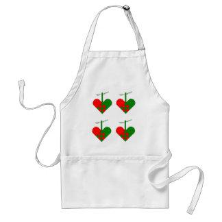 Scandinavian Christmas Holiday Hearts Standard Apron
