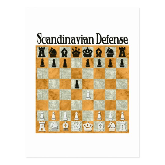 Scandinavian Defence Postcard