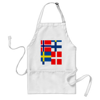 Scandinavian Flags Quartet Standard Apron