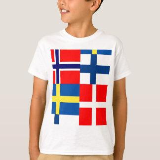 Scandinavian Flags Quartet T-Shirt