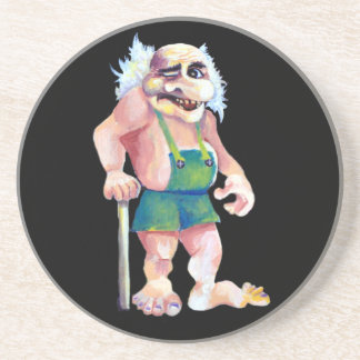 Scandinavian Funny Looking Ogre Troll Coaster