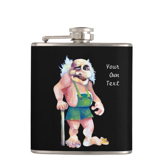 Scandinavian Funny Looking Ogre Troll Flasks