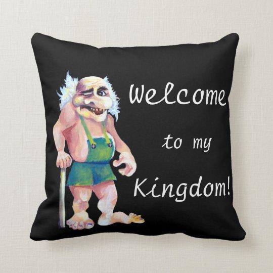 Scandinavian Funny Looking Welcoming Troll Cushion