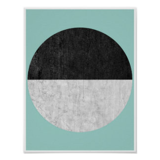 Scandinavian, geometric poster print in turquoise