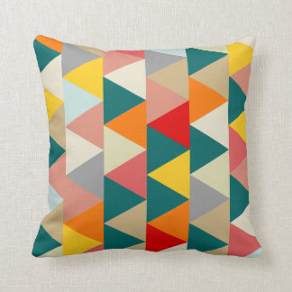 Scandinavian Geometric Triangle Cushion