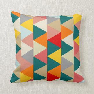 Scandinavian Geometric Triangle Throw Pillow