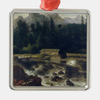Scandinavian Landscape, 1670 Christmas Ornament