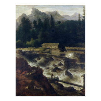 Scandinavian Landscape, 1670 Postcard