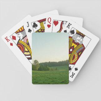 Scandinavian landscape playing cards