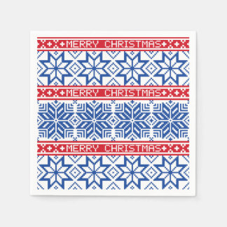 Scandinavian Merry Christmas Paper Napkin