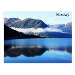 Scandinavian mountains, The North sea, taken in... Postcard