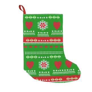 Scandinavian Pattern Small Christmas Stocking