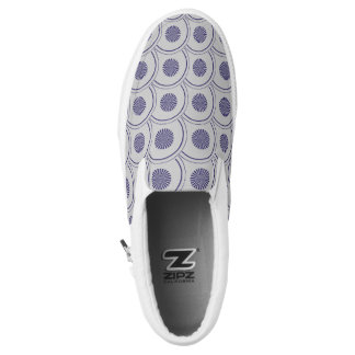 scandinavian style abstract pattern printed shoes