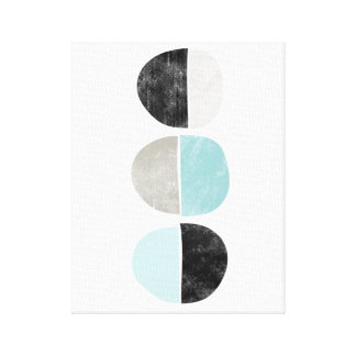 Scandinavian style geometric canvas print