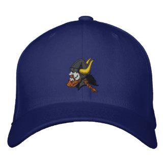 Scandinavian Viking in Helmet Embroidered Hat