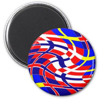 Scandinavy Wavy 6 Cm Round Magnet