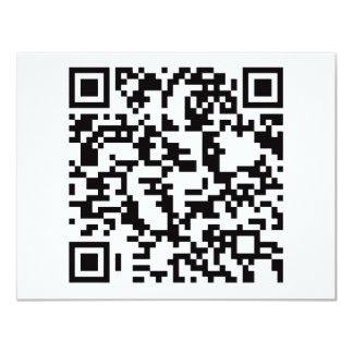 Scannable QR Bar code 11 Cm X 14 Cm Invitation Card
