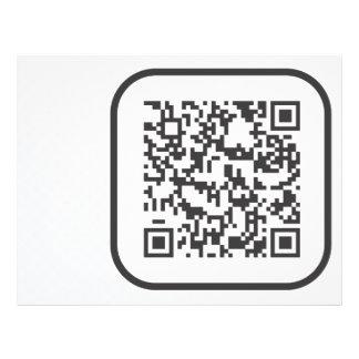 Scannable QR Bar code 21.5 Cm X 28 Cm Flyer