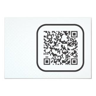 Scannable QR Bar code 9 Cm X 13 Cm Invitation Card