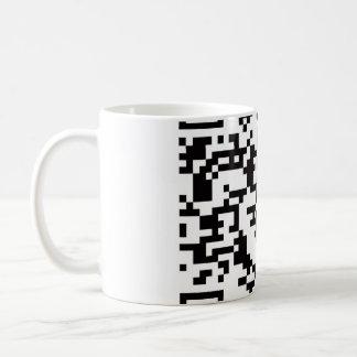 Scannable QR Bar code Basic White Mug