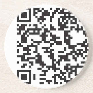 Scannable QR Bar code Beverage Coasters