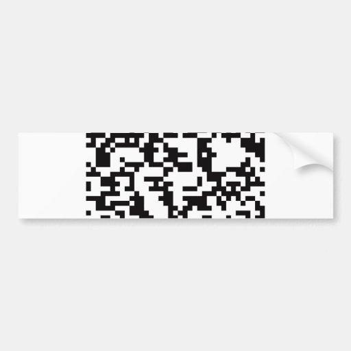 Scannable QR Bar code Bumper Stickers
