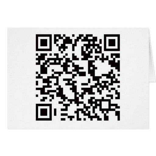 Scannable QR Bar code Greeting Cards