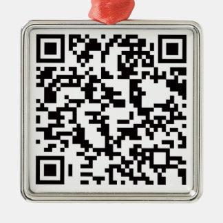 Scannable QR Bar code Christmas Ornament