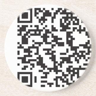 Scannable QR Bar code Drink Coaster