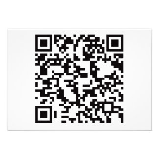 Scannable QR Bar code Custom Invitation