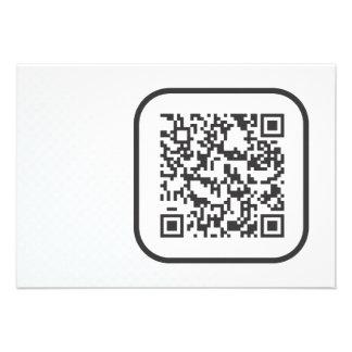 Scannable QR Bar code Custom Invites