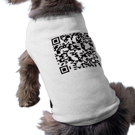Scannable QR Bar code Dog Clothing