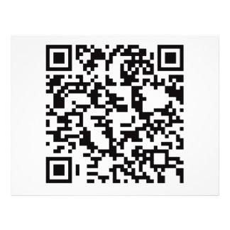 Scannable QR Bar code Custom Flyer