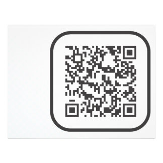 Scannable QR Bar code Flyer Design
