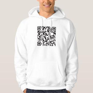 Scannable QR Bar code Hooded Sweatshirt