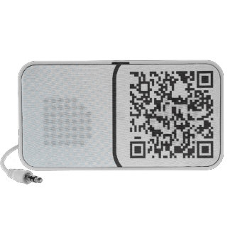 Scannable QR Bar code iPod Speakers