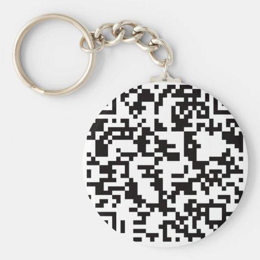 Scannable QR Bar code Key Chain